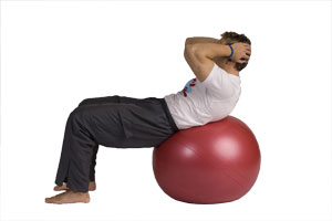 Crunches on the Exercise Ball