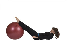 Leg Extensions with Exercise Ball