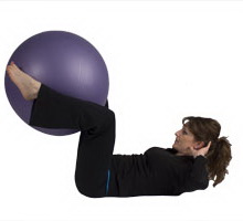 Lying Crunch with Exercise Ball