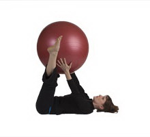 Triangle Pass with Exercise Ball
