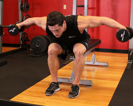Seated Bent-Over Rear Delt Raise