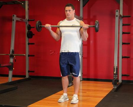 Wide-Grip Standing Barbell Curl